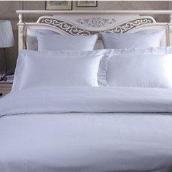白色双层条形款  酒店床上用品