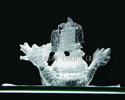 賽龍舟-鹽雕冰雕