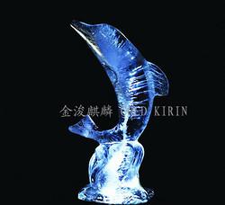 小海豚-鹽雕冰雕