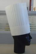 生态棉高平顶厨师帽