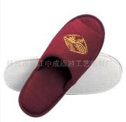 钓鱼台国宾馆紫红毛巾拖鞋