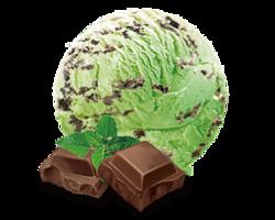 冰激凌:薄荷巧克力