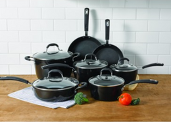 Oneida 12pc Forged Aluminum Black NS Cookware w/ Induction
