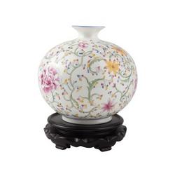 手绘骨瓷花瓶-南瓜花瓶