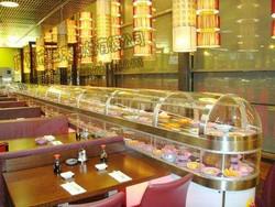 三禾国际双层冷热回转寿司传送设备