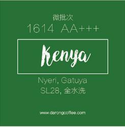 肯尼亚咖啡生豆水洗微批次1614