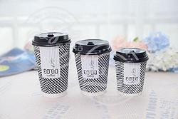 瓦楞咖啡杯-千鸟格