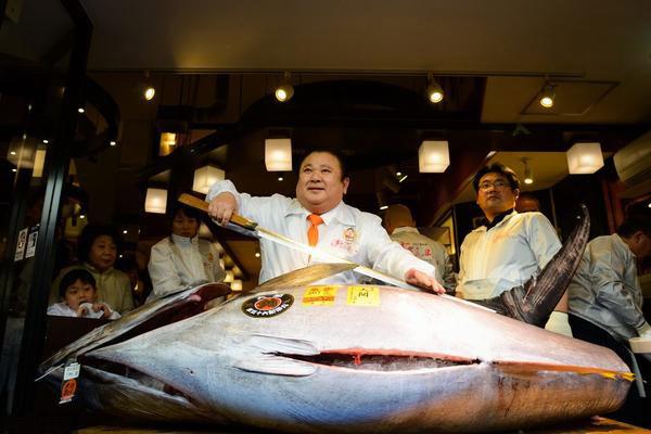 有条太平洋蓝鳍鲔价值400多万元人民币