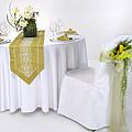 白色西式婚礼桌布台布