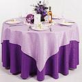 紫色婚礼桌布台布