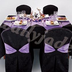 黑色方桌布台布