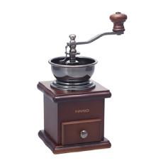 HARIO日本原装 方形木制手动陶瓷磨芯咖啡豆研磨机