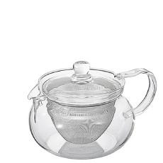HARIO日本进口 耐热玻璃茶壶带不锈钢滤网