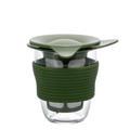 HARIO日本原装进口 耐热玻璃带过滤网隔热茶杯