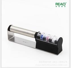 台湾奇男子刀具REAO 厨房多功能快速磨刀石进口陶瓷砂轮3道打磨