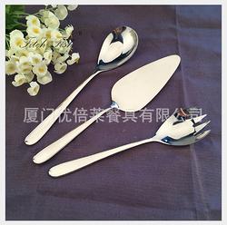 430不锈钢 沙拉叉勺4018