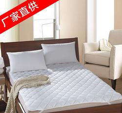 酒店纯棉白色床上保护垫,宾馆防滑床垫1200#定型棉保护垫 全棉110*90保护垫