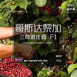哥斯达黎加三奇迹庄园F1蜜处理 新鲜烘焙精品咖啡豆200g