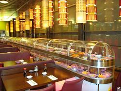 玻璃罩回转寿司设备