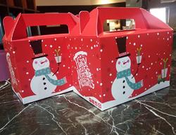 新款圣诞版西点盒 芝士蛋糕纸盒 饼干烘焙西点包装盒