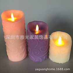 充电蜡烛灯摆件真石蜡