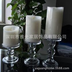 经典款套三玻璃烛台