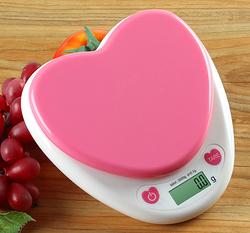 心型 厨房秤 厨房电子秤 烘焙秤 电子秤 厨房称 3KG0.1