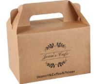 厂家定制 西点食品包装盒手提盒 牛皮纸西点烘焙蛋糕盒纸盒可印刷