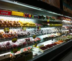 热销喜曼 风幕柜 超市大型蔬菜陈列柜 保鲜柜冷藏展示柜