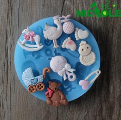 妮可鹅脚丫翻糖硅胶模具蛋糕装饰模具烘焙工具巧克力模具F0484
