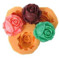 妮可F0041硅胶树脂花软陶花模具巧克力模具蛋糕装饰糖果模具皂模