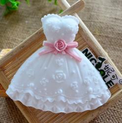 妮可巧克力模具 连衣裙翻糖蛋糕装饰工具 陶泥粘土硅胶模具F0799