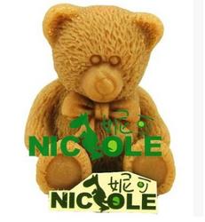 妮可R0909 可爱熊 硅胶手工皂模具 香皂模具 烘培模具 皂模