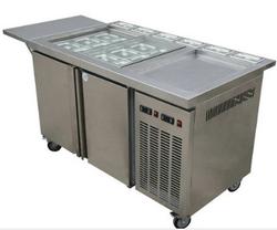 炒冰台-储存展示炒冰三功能一体柜