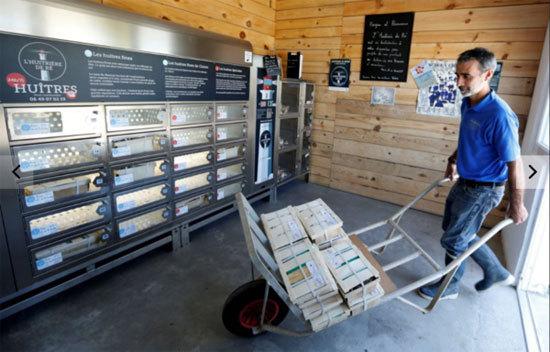 自动贩卖机,生蚝,生蚝养殖,法国出现一款全天候的生蚝自动贩卖机