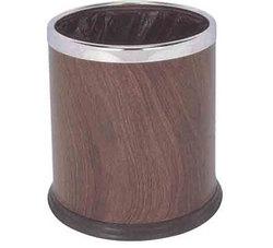 LJT091 圆形多层垃圾桶(红桃木色)