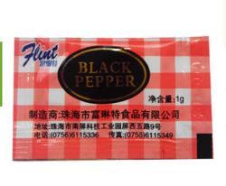 富琳特黑胡椒调味包 1克蘸炸鸡吃 黑胡椒碎小包装 胡椒粉调味料
