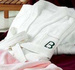 全棉平织浴袍