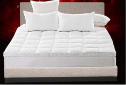 白鸭绒双层床垫