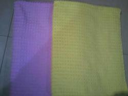 素色提花毛巾