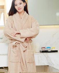 浴袍长袖情侣睡衣全棉浴衣
