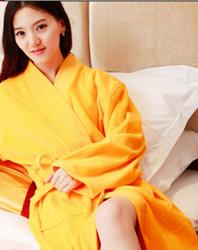 全棉纯色浴袍