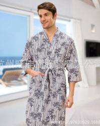 夏季男士全棉薄款浴袍
