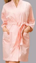 夏天短款美容院女士纯棉浴袍
