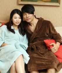 男女士保暖加厚珊瑚绒睡袍