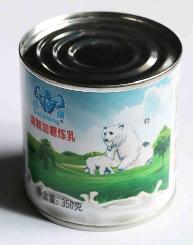 百强双熊调制加糖炼乳
