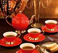 尊上系列 流云茶具餐具套装 红釉
