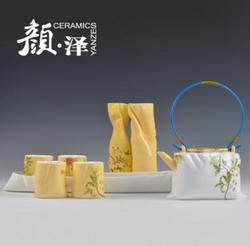 尊上系列 北京花布骨瓷茶具