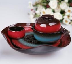 玉泉系列 窑变釉炻器功夫茶具