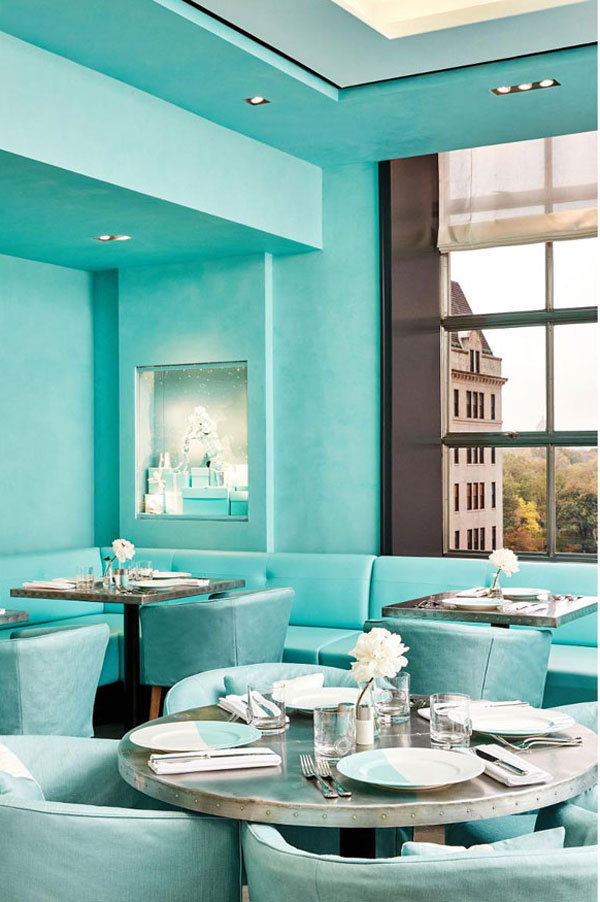 Tiffany,Blue Box Café,餐厅,蒂凡尼的早餐 Tiffany&Co.推出首家旗舰店Blue Box Café
